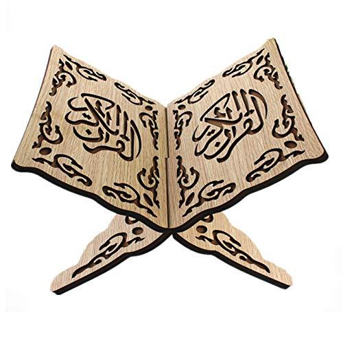 Jiaermei Estantería Mediana De Madera del Corán De Eid Al-Fitr para Musulmanes Musulmanes Islámicos La Nacionalidad Hui