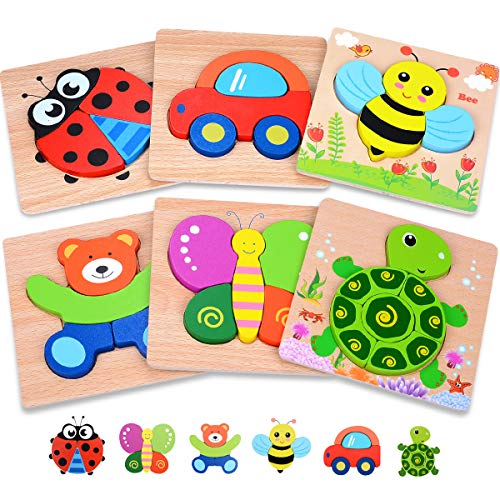 MAGIFIRE Wooden Toddler Puzzles Gifts Toys for 1 2 3 Year Old Boys Girls Baby...