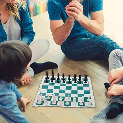 DAUERHAFT Bolsa de ajedrez Duradera con Bolsa de Lona Grande Juego de...