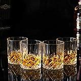 KANARS 4er Set Whisky Gläser, Bleifrei Kristallgläser, Whiskey Glas, 300ml, Schöne Geschenk Box, Hochwertig - 9