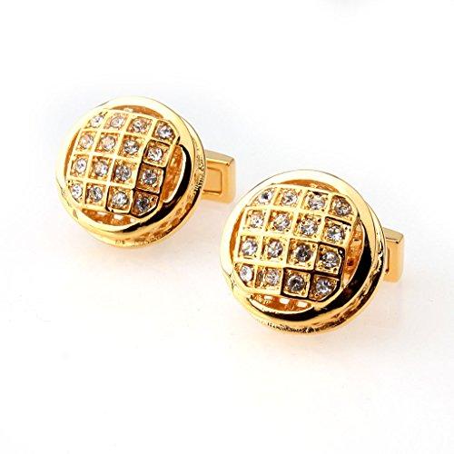 joyMerit Gemelos de Diamantes de Imitación Brillantes de Forma Redonda de Moda para Accesorios de Boda