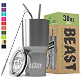BEAST 30oz Stainless Steel Tumbler Vacuum Insulated Rambler Coffee Cup Double...