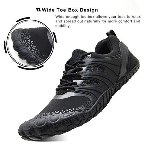 Oranginer Men S Zero Drop Shoes Barefoot Comfortable Five Toe Shoes For Men Black Size 13 Buy Online In India At Desertcart In Productid 144058210