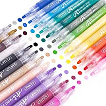 ZEYAR Acrylic Paint Pens for Rock painting, 24 colors, Water based Medium Point, AP Certified, Assorted Colors,Odorless,Acid Free,Non-Toxic and Safe to Use