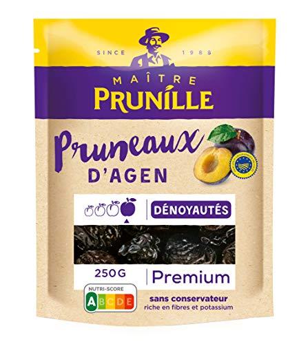 Maitre Prunille Pruneaux DAgen Dénoyautés Premium Plaisir Calibre, 250g