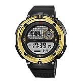 FUNBS Laufen Smartwatches, Multifunktionsuhr für den Außenbereich, Sport-Armbanduhren, genaue Daten, Zum Radfahren, Tanzen, Klettern, Wandern, Angeln-Yellow