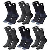 Lavazio® 6   12   18   24 Paar Herren Arbeitssocken Sportsocken Thermo Socken dick und herrlich in dunklen Farben, Farbe:mehrfarbig, Größe:39-42