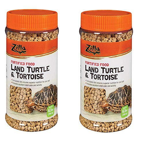 Zilla Land Turtle and Tortoise Fortified Food, 6.5 Ounces each, Pack of 2