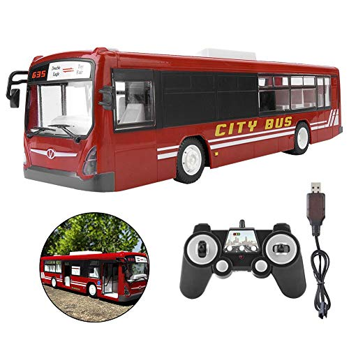 RC Bus Spielzeug, Fernbedienung Bus Simulation Sound-Effekt mit LED-Licht Geschenk für Kinder 3+(Blau)