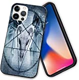 Compatible with iPhone 12 Case,Artwork with Pentagram Goat Skull Devil Dream Hooded Exorcist,Case PC + Soft TPU Frame [Shock-Absorbing] Phone Case for iPhone 12 Pro MAX-6.7 Inch