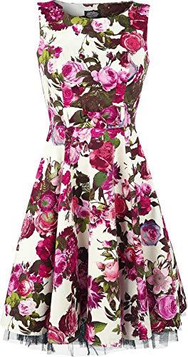 H&R London Audrey 50's Mittellanges Kleid Multicolor L