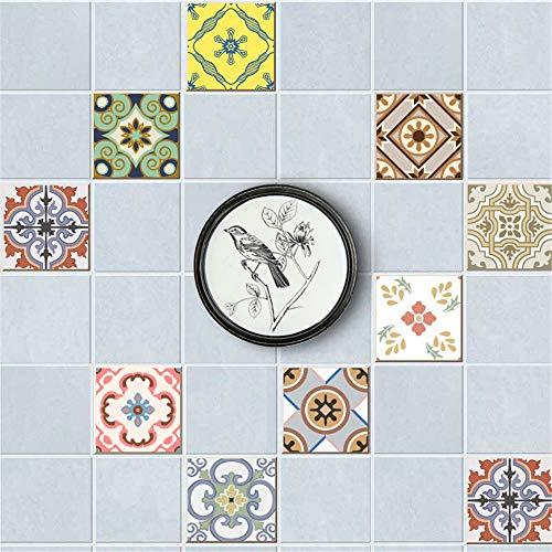 vinilos pared,Pegatinas de azulejos de estilo europeo, pegatinas de azulejos decorativos restauradas con empalme gratuito de bricolaje 20 piezas