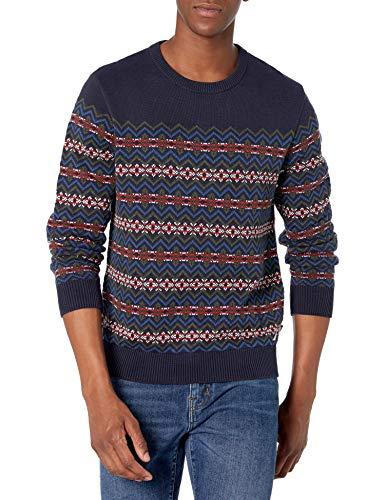 Nautica Men's Classic Fit Novelty Sweater, Navy, Medium