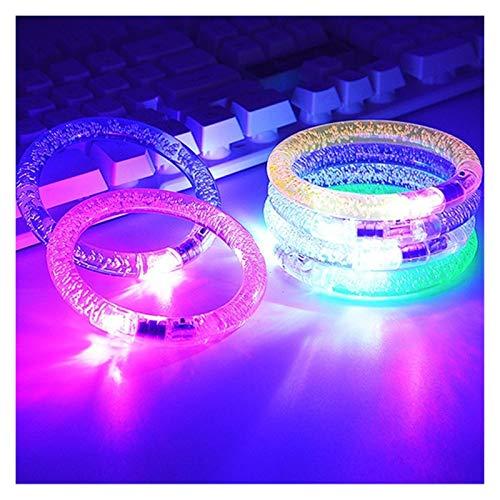Htipdfg Fascia da Braccio LED 2 Pz Bambini Concerto Braccialetti Bolla Props Luce Bracciali Braccialetto Ragazzi guidati Ragazze vigilanza del Fumetto Flash Wrist Band LED Bracciale (Color : 2pcs)