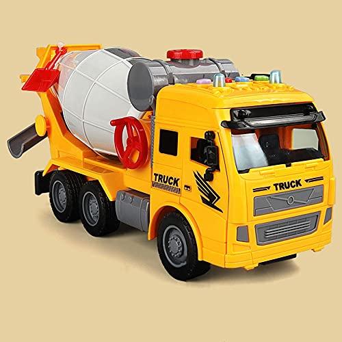 Xolye Drehbarer Mischwagen Modell Spielzeug Große Klang und Licht Musik Kinder Spielzeug Auto Trägheit Vorwärts Jungen Spielzeug Auto Geschenk Simulation Technik Fahrzeug Modell