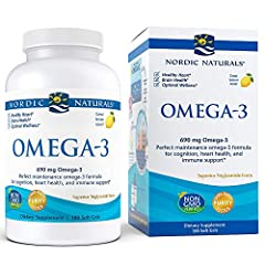 EPA+DHA: Nordic Naturals Omega-3 is a non-concentrated formula with all of its constituents in a natural balance, Omega-3 is a great way to maintain healthy levels of omega-3s EPA and DHA. MEETS AND BEATS RECOMMENDATIONS: Each serving surpasses the i...