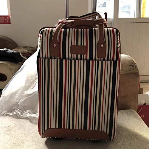 maletas SFBBBO Conjunto de equipaje con ruedas Oxford, ruedas giratorias, maleta de marca para mujer, maleta de viaje, bolsas de equipaje de viaje, conjunto de bolso con ruedas para mujer, azul blanco