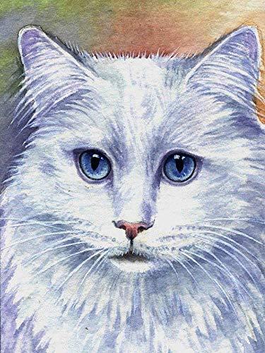 5D DIY Diamond Painting Cat Cross Stitch Diamond Embroidery Animal Rhinestone Artist Home Decoration Painting A8 40x50cm