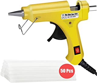 Hot Glue Gun, Upgraded 20W High Temp Mini Hot Melt Glue Gun Kit with 50pcs Glue..