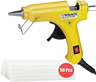 yellow hot glue gun sticks