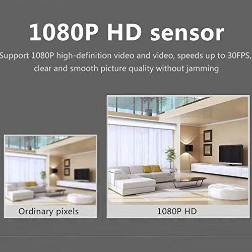 Triamisu Webcam - HD 1080P Webcam Micrófono Pantalla panorámica USB Computadora Cámara Resolución dinámica para videollamada portátil - Negro miniatura
