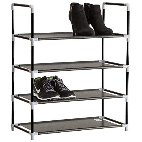 TecTake Schuhregal Schuhablage - Diverse Größen - (4 Ebenen | Nr. 402104)