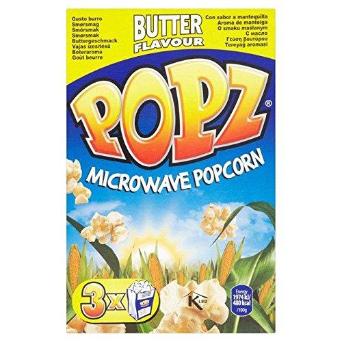 Popz Mikrowellenpopcorn mit Butter, 3 x 90 g, 2 Stück