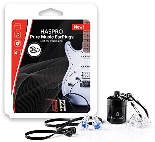 HASPRO Pure Music - I migliori tappi per le orecchie per musicisti appassionati e spettatori di concerti! (Chiaro)