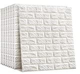 SELF ADHESIVE 3D WALL DECOR - Redesign your walls with Sky Walls 3D brick wall sticker that features a modern white textured design. Measuring approx. 77x70cm per piece, this self adhesive brick wallpaper is the perfect DIY tool for a fresh new look....