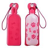 Anpetbest 650ml Porttil Mascota Botella de Agua Plegable para Perro Gato Mascotas Viajes Vacaciones