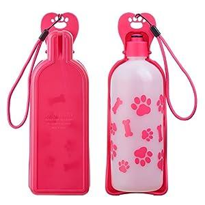 325ml botella de agua portátil para perro, Anpetbest Portátil botella de viaje para mascotas Bebedero para Perro y Gatos Bebedero de Viaje para Mascota 1