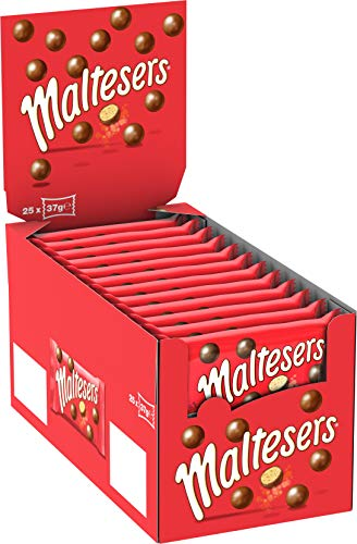 Maltesers croccanti palline al malto ricoperte di cioccolato al latte, 25 bustine X37G (925G)