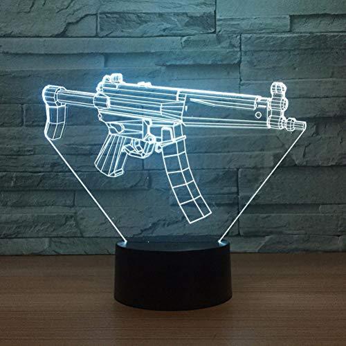 Leeypltm Personal Gun 3D illusie lamp LED nachtlampje 7 kleuren wisselen, Touch Control, USB-oplader, als decoratieve woonkamer slaapkamer, en verjaardag cadeau