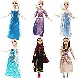 Accesorios para muñecas Conjunto de Ropa de 6pcs para Fashionistas muñeca Princesa Vestido de Fiesta Fashion Ropas Casual para 11.5 Pulgada