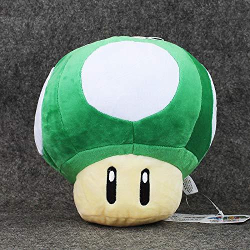 adfw Super Mario Toad Mushroom Green Stuffed Plush Toys Adornos Suaves Regalos De Cumpleaños Muñecas con Etiquetas para Niños 30Cm