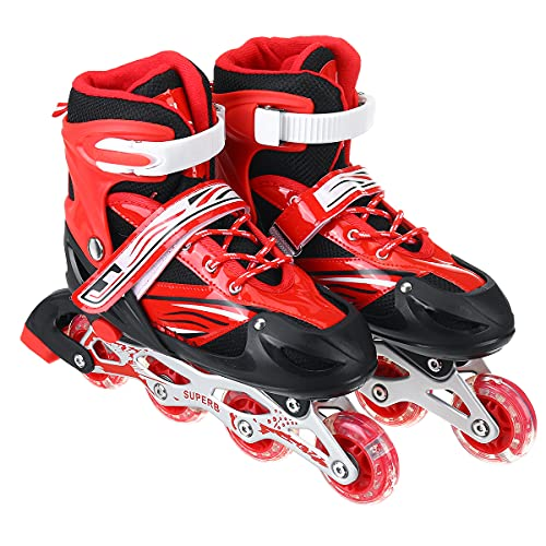 VAIKUNTH Enterprise Inline Skates Size Adjustable Skates Size Adjustable All Pure PU Wheels It Has Aluminum-Alloy Which is Strong Wheels in-line Skates Boys and Girls 7 to 12 Year