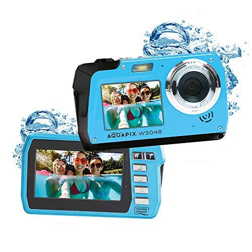 EASYPIX W3048 Edge Iceblue wasserdichte Kamera 48 MP Dual Display