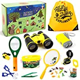 Juboury Outdoor Explorer Set - 25 PCS Nature Exploration Kit Children Outdoor Games Kids Binoculars, Compass,...