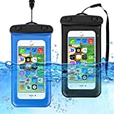 HAISSKY [2-Pezzi] Custodia Impermeabile Universale,Borsetta Impermeabile IPX8 Dry Bag per Telefono per iPhone XS Max/XR/XS/X Samsung Galaxy S10Plus/ S10 Huawei P30 PRO/ P30 Fino a 6.7 Pollici