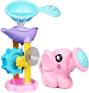 Goalftek 1 Set Bath Toy Shower Spray Water Waterwheel Bathtub, Baby Bath Toy, Bathtub Shower Toy