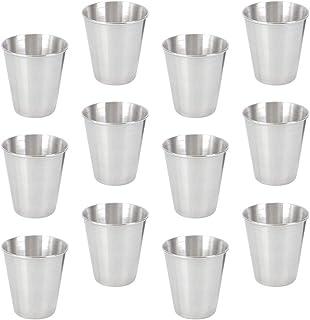 iplusmile スタッキングマグカップ アウトドア コップ コーヒーカップ ステンレスマグカップ キャンプ マグカップ コンパクト 断熱 ピクニックカップ 飲酒カップ キャンプ用 アウトドア 旅行 12本 (70Ml)