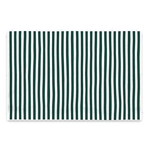 2 Seitenteile Seitenwände Seitenplanen ohne Fenster für PE-Pavillon Partyzelt 3 m grün weiß