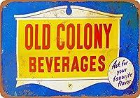 金属サイン古いコロニー飲料インチレトロな装飾ティンサインバー、カフェ、アート、家の壁の装飾