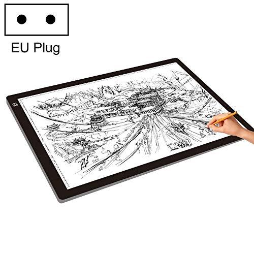 NOBRAND Tablero de Escritura IBHT 23W 12V LED Tres Nivel de luminosidad Regulable A2 acrílico Juntas de Copia for su Dibujo Animado de Dibujos, Enchufe de la UE 1