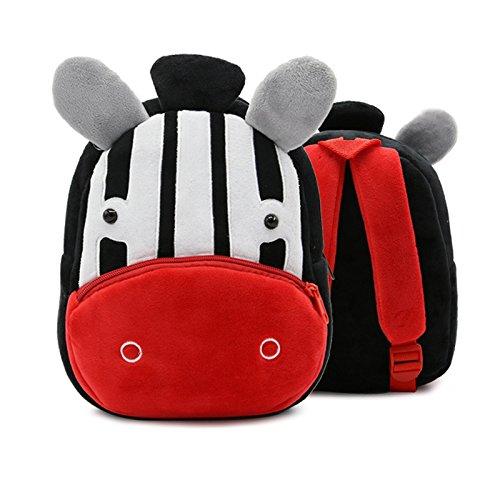 Schattig dier Zebra kinderen schooltas rugzak pluche rugzak kleuterschool vroeg onderwijs belaste tas dier zebra