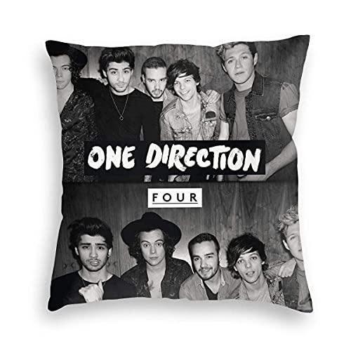 DRXX Icemaris Wujianshan One Direction Four Velvet Throw Pillow Covers 45 * 45cm Funda de Almohada Decorativa Cojín Moderno para Coche Sofá Cama Decoración del hogar