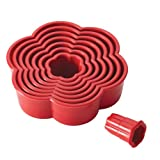 Cake Boss Nylon Baking Cutters Set - Daisy Shape, 8-Piece, Red