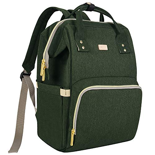 Maydolly Diaper Bag Backpack Multifunction Travel Baby Changing Bags Nappy Bag Maternity Rucksack Large Capacity, Waterproof and Stylish Army Green