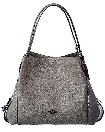 Coach Edie 31 Leather Shoulder Bag, Grey