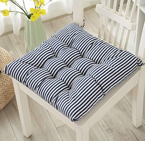 Uministyle 4er Set Stuhlkissen Stuhlauflage Sitzkissen Sitzpolster Auflage für Stühle Indoor und Outdoor 40x40 cm (Straped)